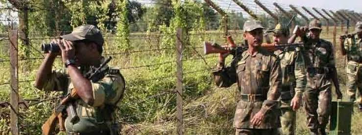 सीमा पर भारतीय सेना के जवान।