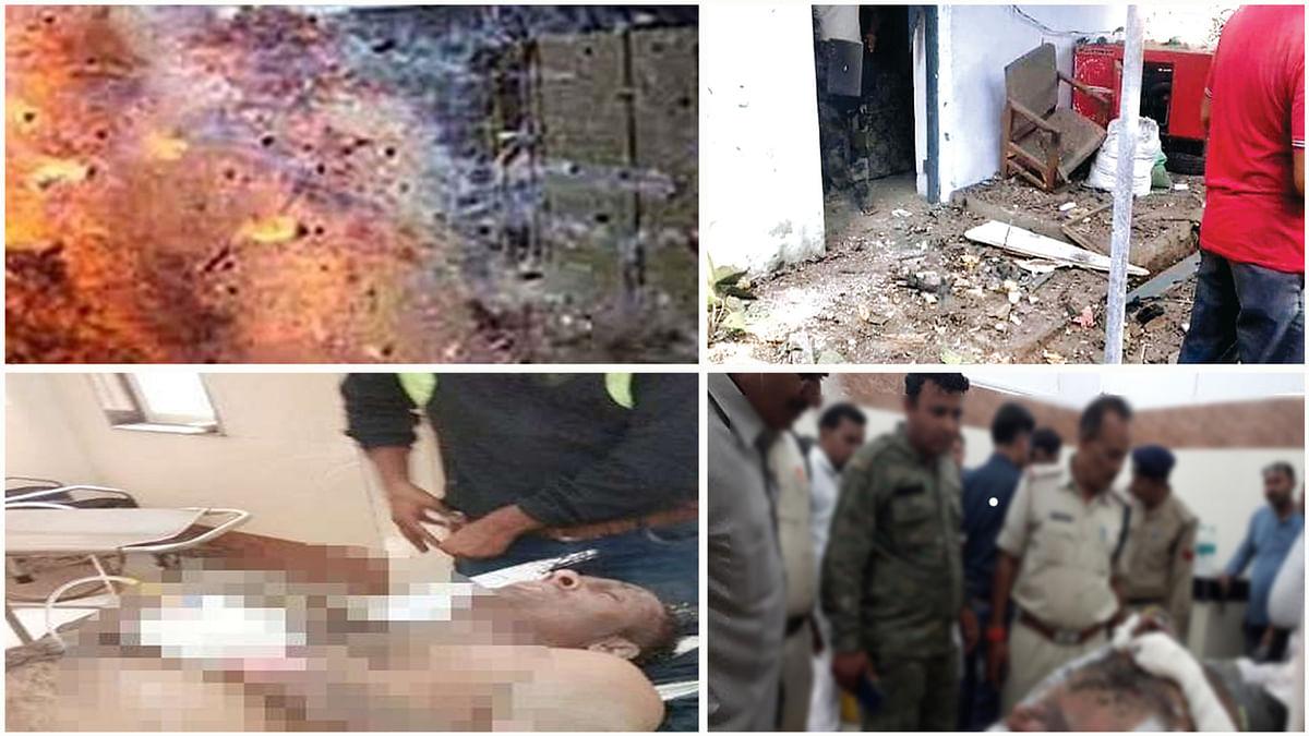 मुरैना: थाने में रखे पटाखों में विस्फोट, चार घायल