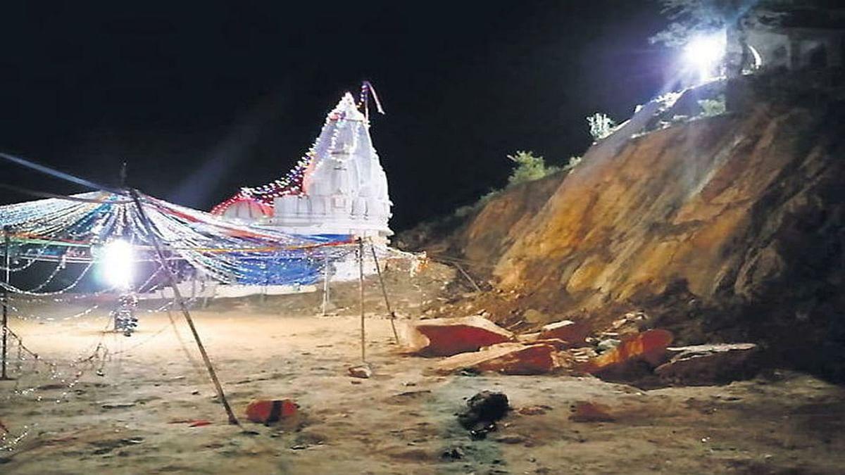 राजस्थानः गरबे के दौरान पहाड़ी के ढहने से हुआ हादसा