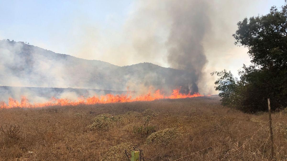 कैलिफोर्निया के कई इलाकों में गुरूवार से आग लगी है।