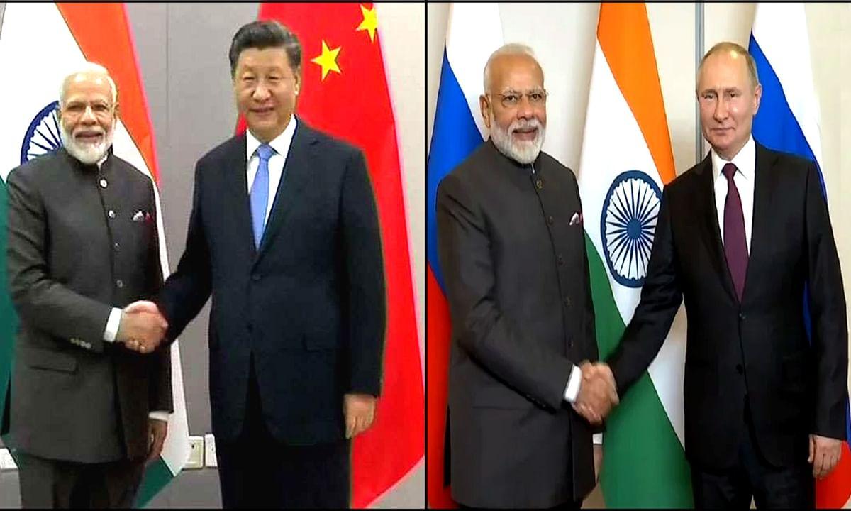 भारतीय प्रधानमंत्री मोदी और चीनी राष्ट्रपति जिनपिंग की खास बातचीत
