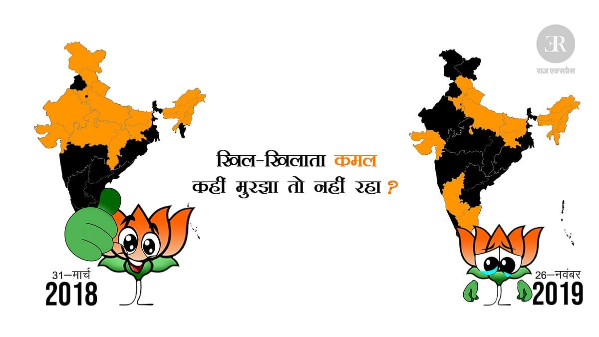 राजनीतिक उथल-पुथल के साल रहे 2018-19, भाजपा से छूटे कई बड़े राज्य