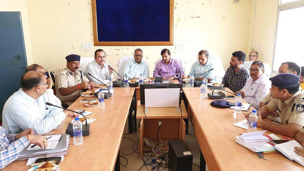 छतरपुर : कमिश्नर और आईजी ने ली अधिकारियों की संयुक्त बैठक