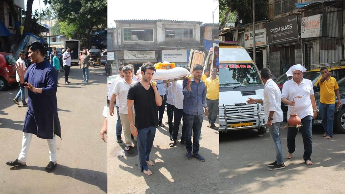 मनीष के पिता का मुंबई में अंतिम संस्कार