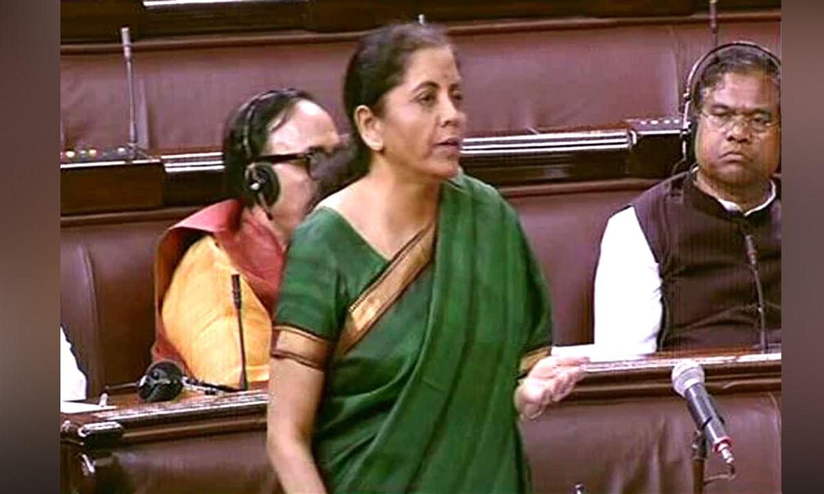 वित्त मंत्री ने राज्यसभा में अर्थव्यवस्था के मुद्दे पर बात की
