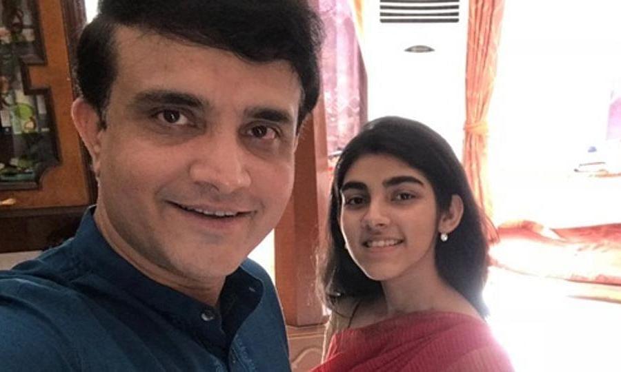 इंस्टाग्राम पर सौरव गांगुली की बेटी ने किया, पापा से मीठा मज़ाक