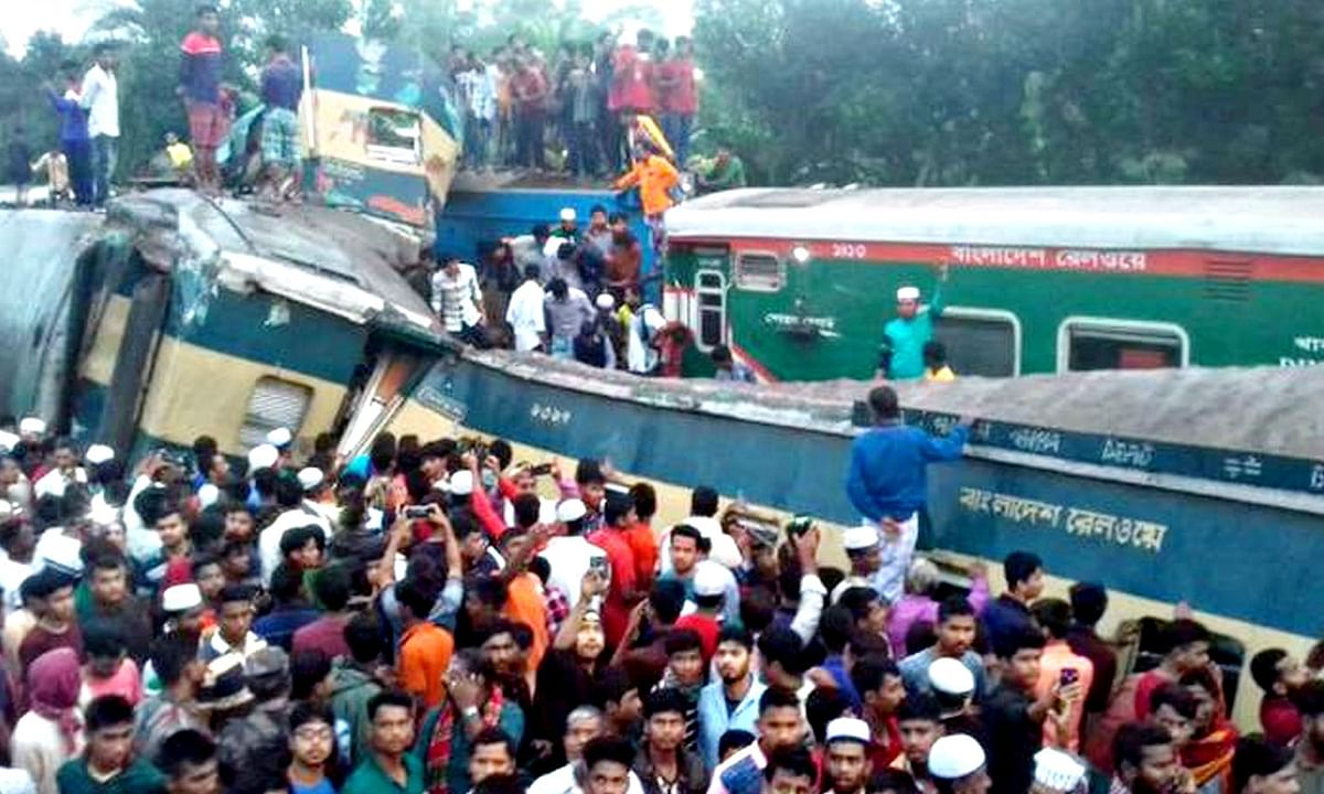 बांग्लादेश में भीषण हादसा: 2 ट्रेनों की आमने-सामने से जोरदार टक्कर