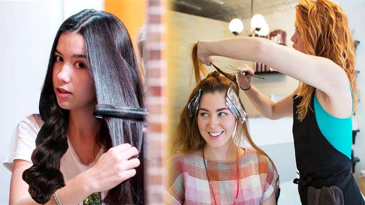 Permanent Hair Straightening & Dye