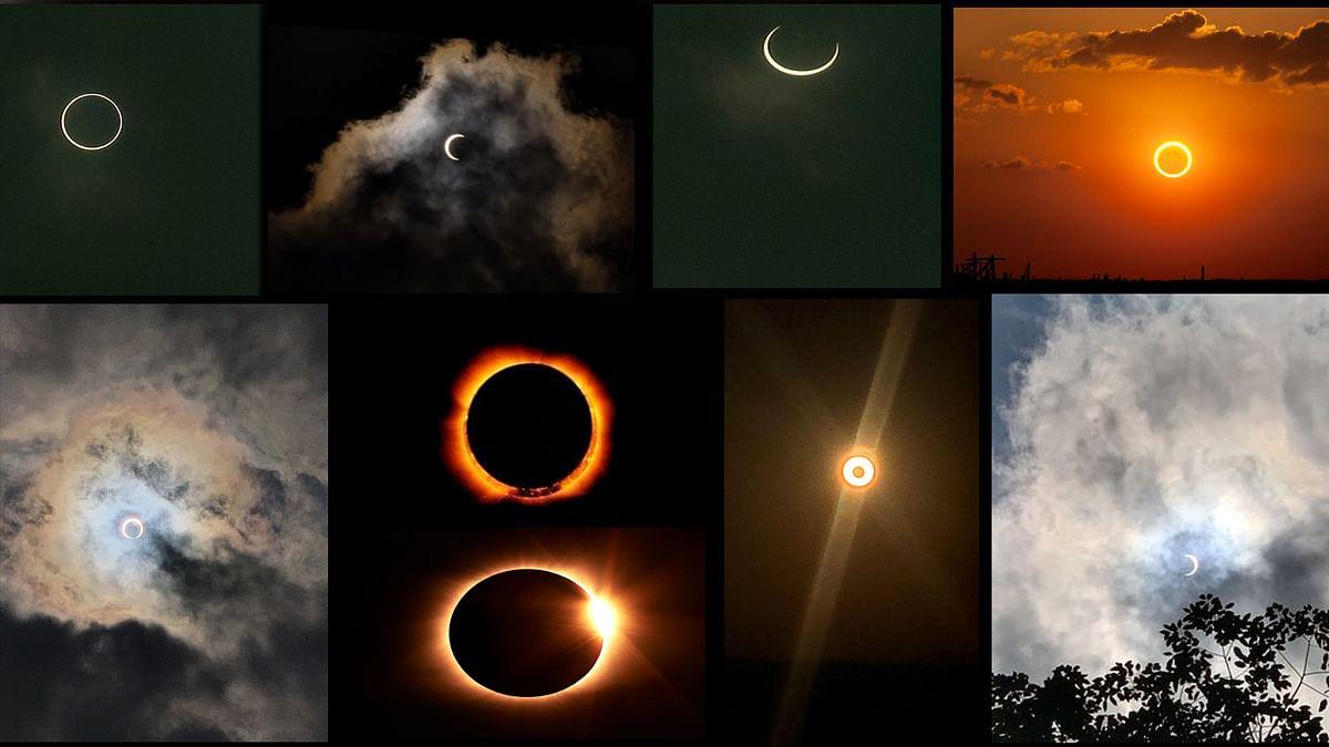 कुछ इस तरह नजर आए सूर्य ग्रहण के अद्भुत नजारे