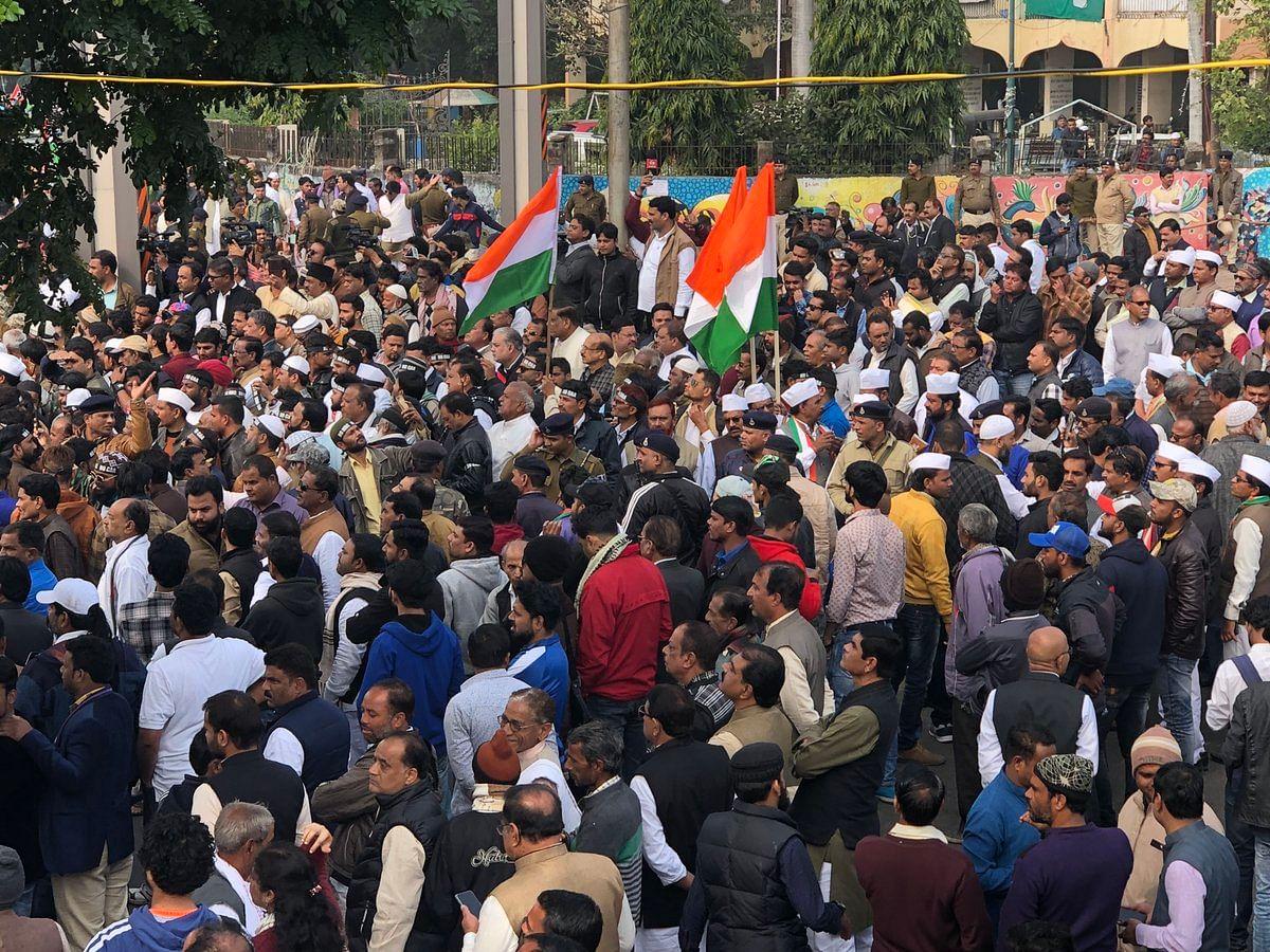 CAA-NRC के विरोध में कमलनाथ के नेतृत्व में कांग्रेस का शांति मार्च