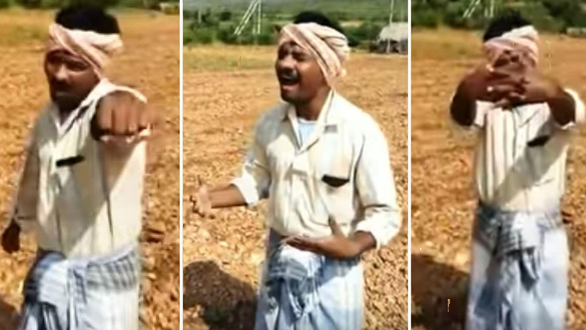 किसान ने गाया जस्टिन बीबर का पॉपुलर गाना