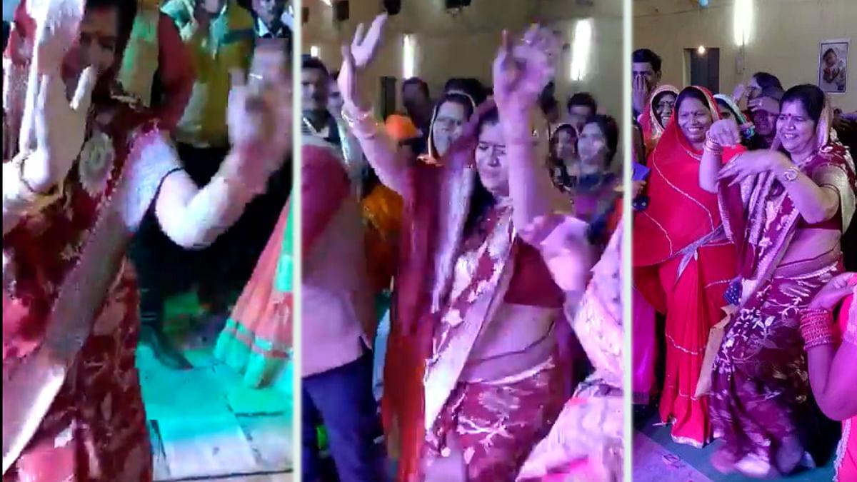 शादी समारोह में झूमी मंत्री महोदया