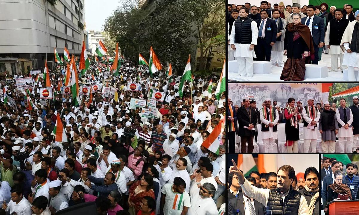 भारत बचाओ-संविधान बचाओ! नारे के साथ कांग्रेस ने मनाया स्थापना दिवस
