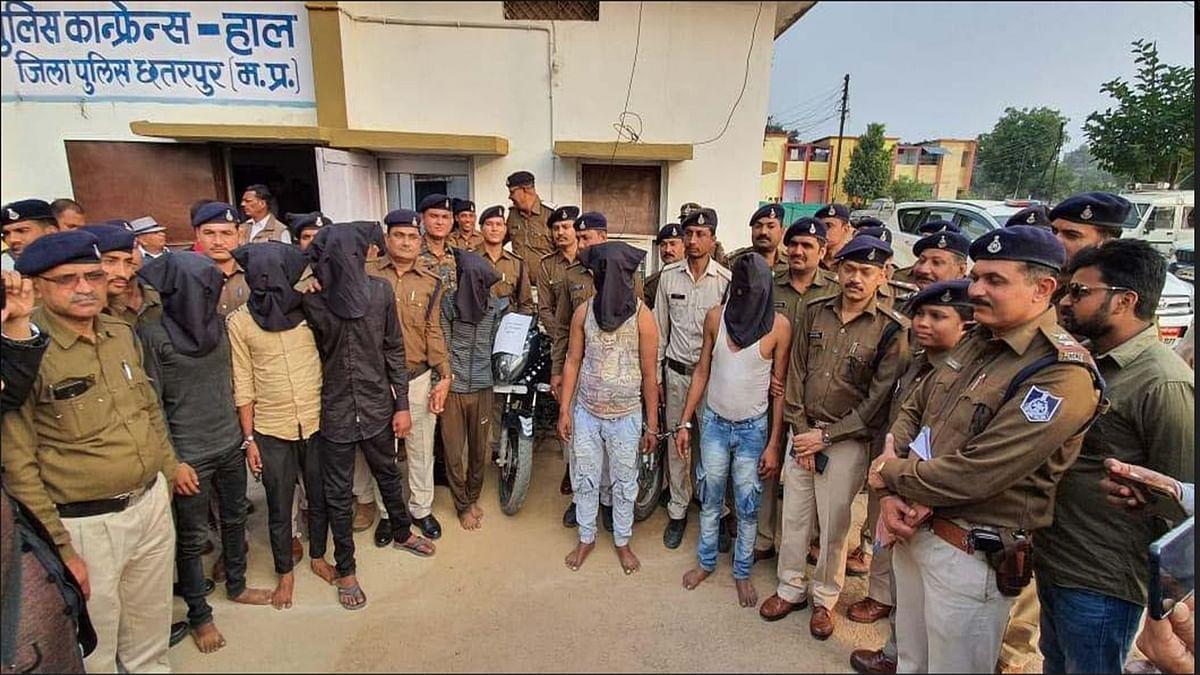 बिजावर क्षेत्र में हो रही सनसनीखेज लूट के 9 आरोपी गिरफ्तार