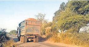 जंगल के रास्ते से हो रहा रेत के वाहनों का परिवहन