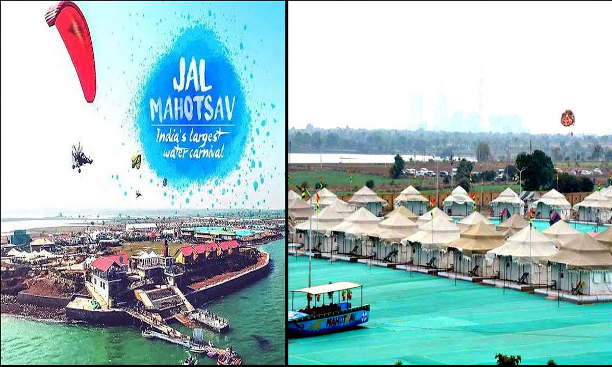 हनुवंतिया जल महोत्सव का आगाज करने पहुंचे मुख्यमंत्री कमलनाथ