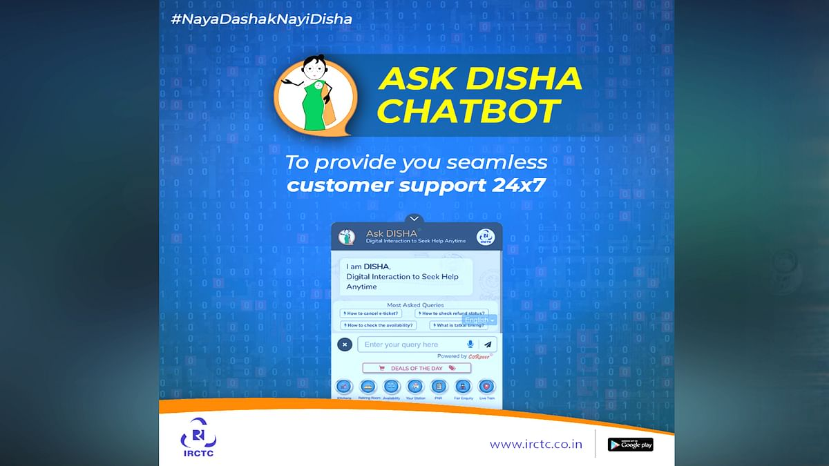 IRCTC Launched New Feature Ask Disha
