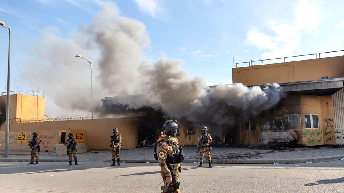 बगदाद के अमेरिका दूतावास पर फिर रॉकेट हमला, बढ़ सकता हैै विवाद