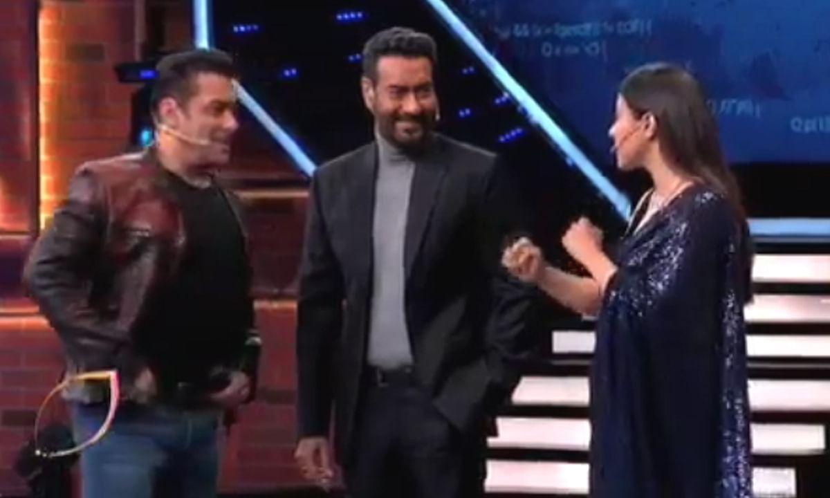 वीकेंड का वार होगा धमाकेदार, काजोल ने अजय को लगाया 'थप्पड़'