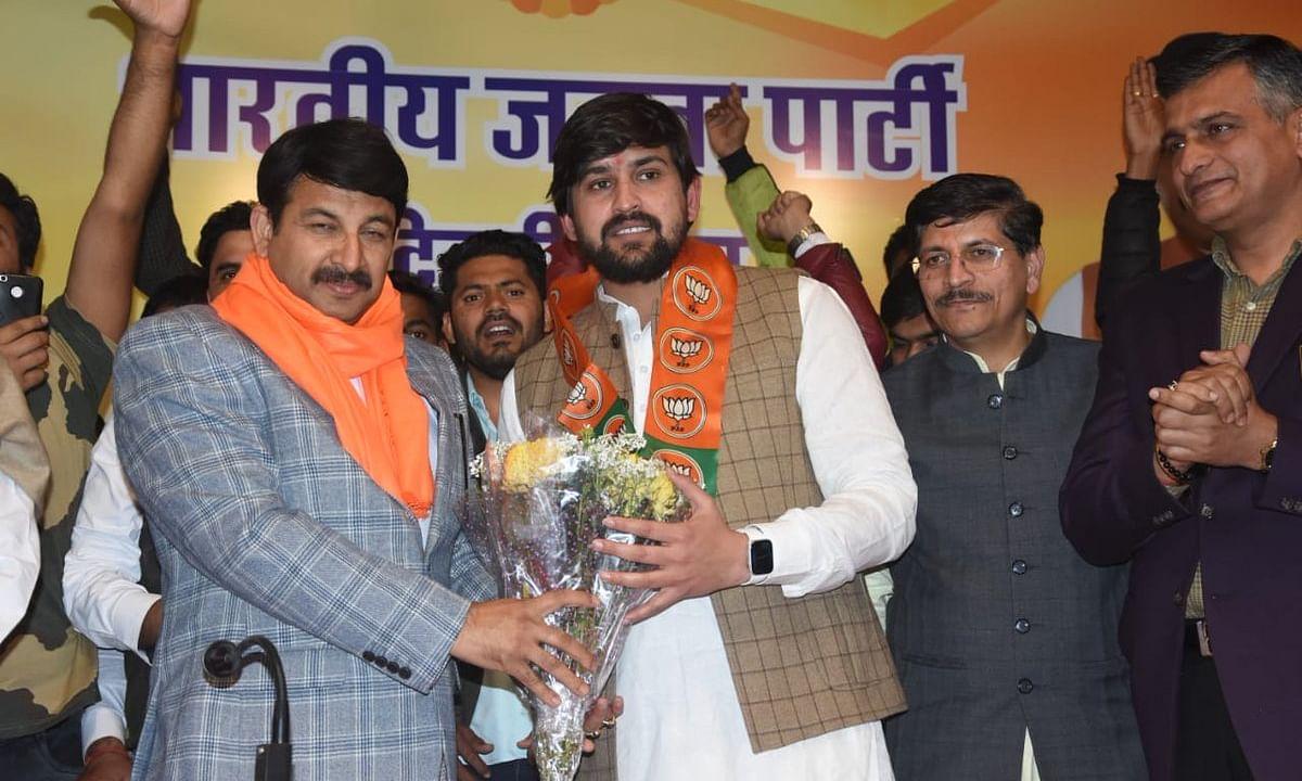 दिल्ली विस चुनाव 2020 : DUSU के पूर्व अध्यक्ष भाजपा में शामिल