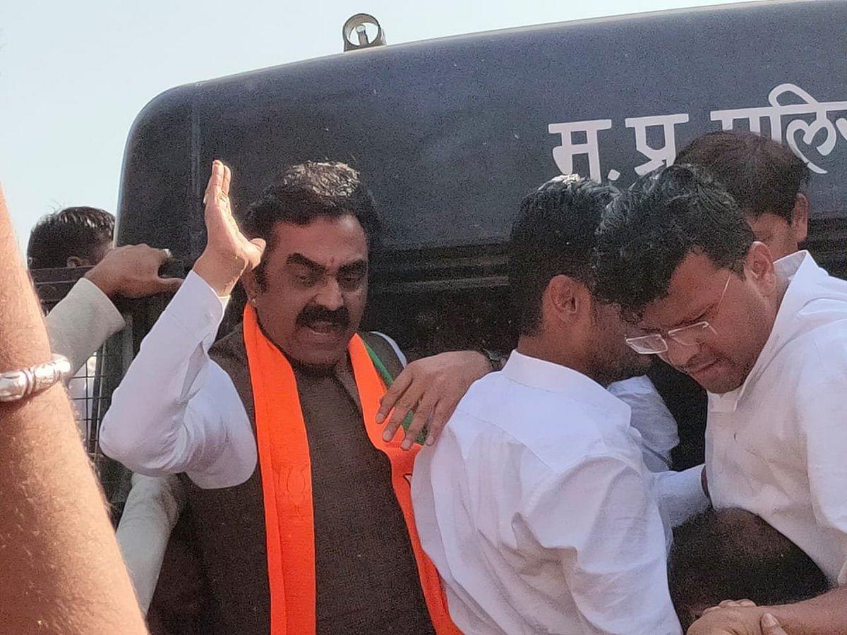 प्रदेशभर में भाजपा का कमलनाथ सरकार के खिलाफ प्रदर्शन
