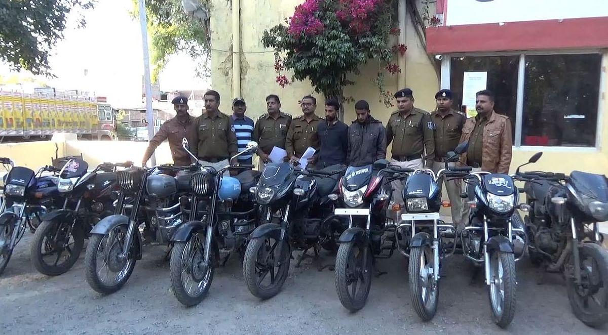 पुलिस ने वाहन चोर गिरोह के दो सदस्यों को पकड़ा