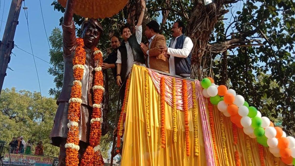 कांग्रेस महासचिव सिंधिया का मुंगावली में भव्य स्वागत