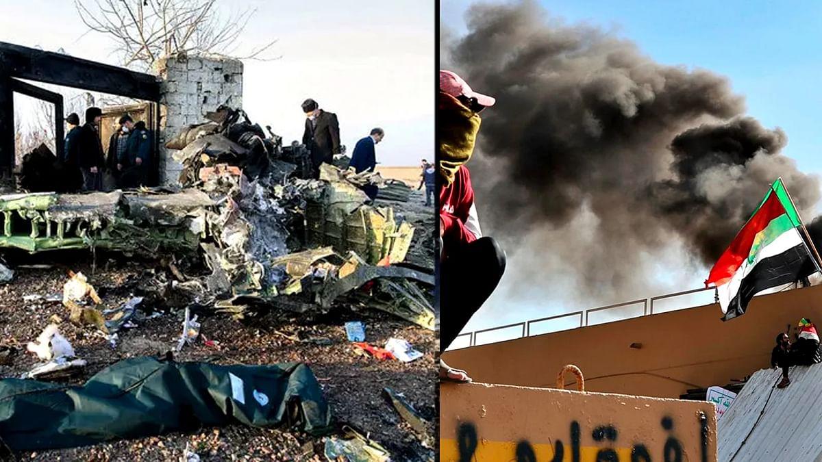 ईरान विमान हादसा व ईरानी मिसाइल हमले में सैकड़ों की मौत