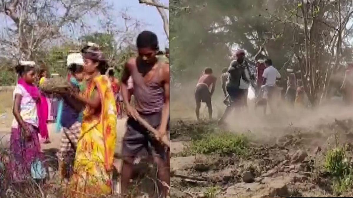 नक्सली क्षेत्र में ग्रामीणों ने खुद बनायी सड़क, कलेक्टर की राय अलग