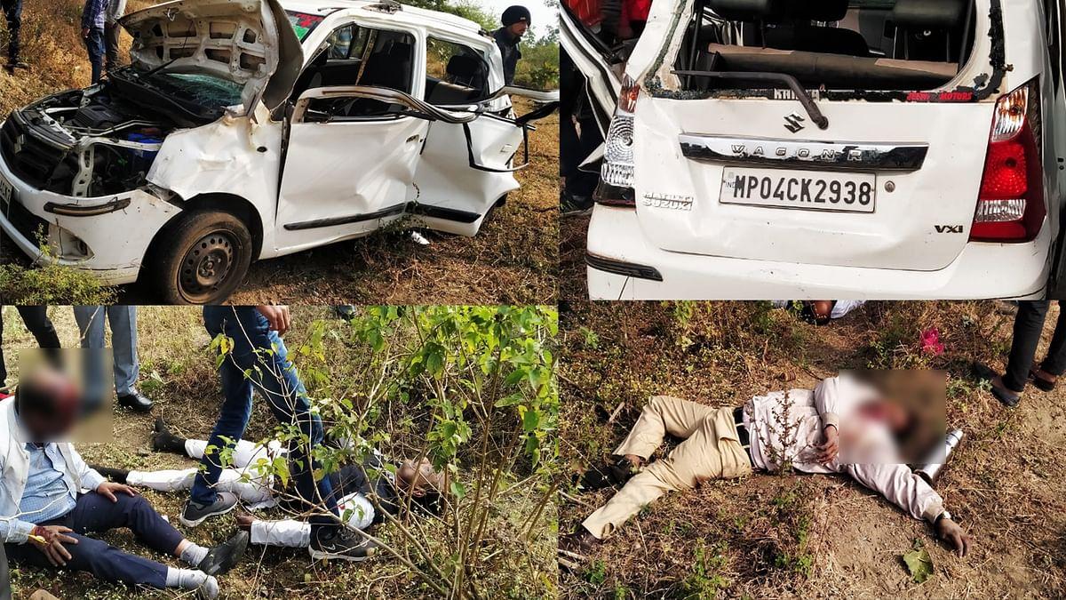 सीहोर रोड पर दर्दनाक कार हादसा