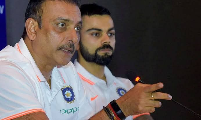 BCCI With captain Virat Kohli And coach Ravi Shastri on Four Day Test Issue