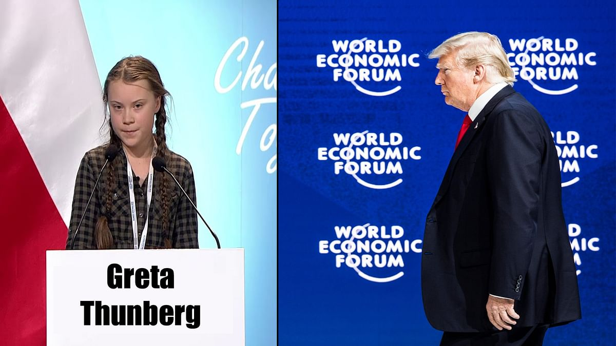 US President Trump at World Economic Forum