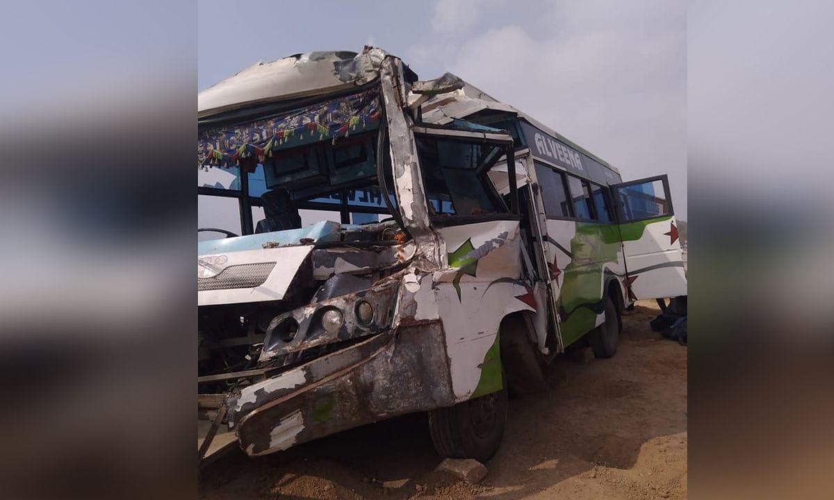 स्कूल बस दुर्घटनाग्रस्त, डायल-100 ने घायलों को पहुंचाया अस्पताल