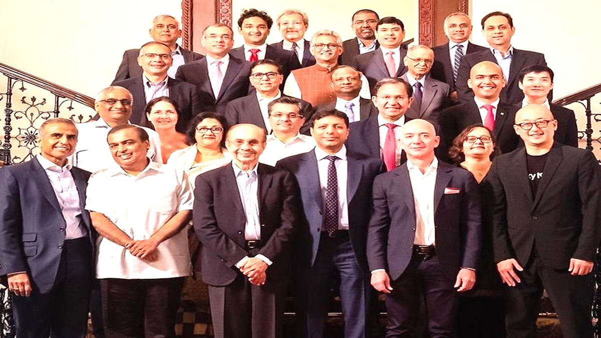 Jeff Bezos with Top Indian Businessmen