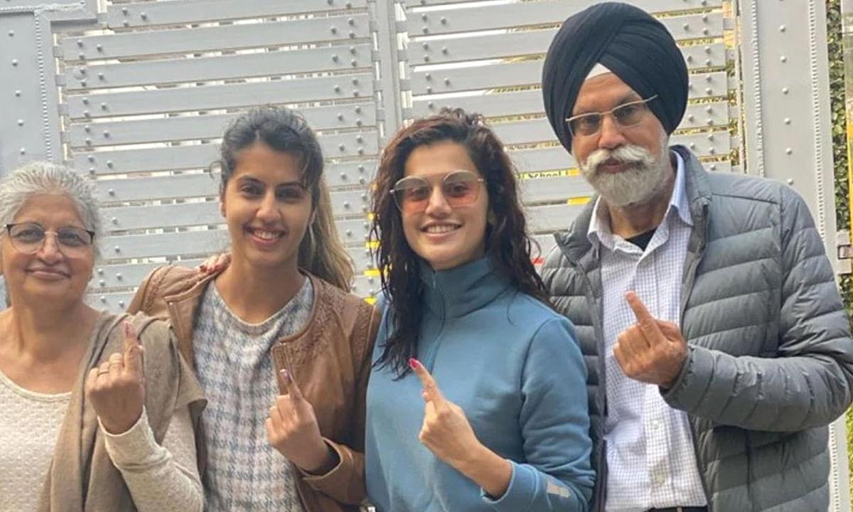 पन्नू परिवार ने किया विधानसभा चुनाव में मतदान, तस्वीरें वायरल