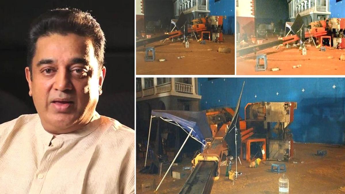 कमल हासन की फिल्म 'इंडियन 2' के सेट पर भयानक हादसा