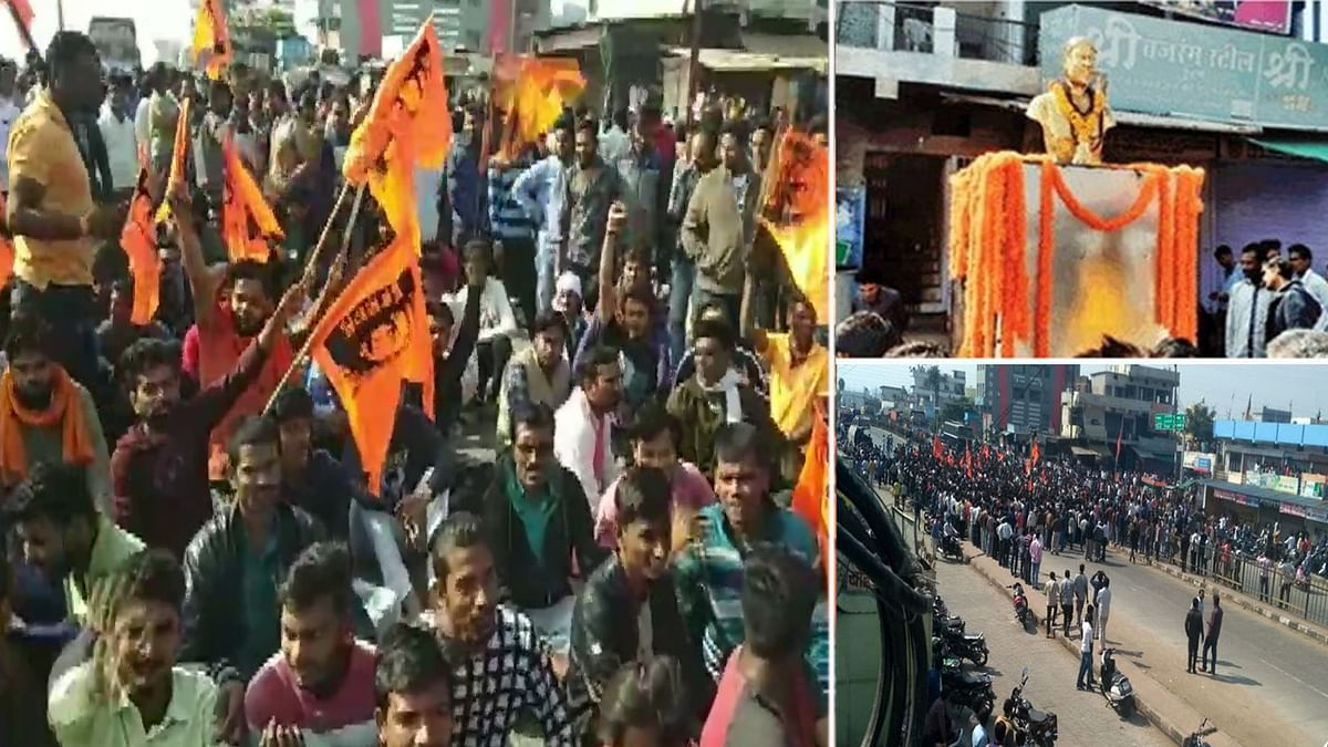 छत्रपति शिवाजी की प्रतिमा पर बवाल