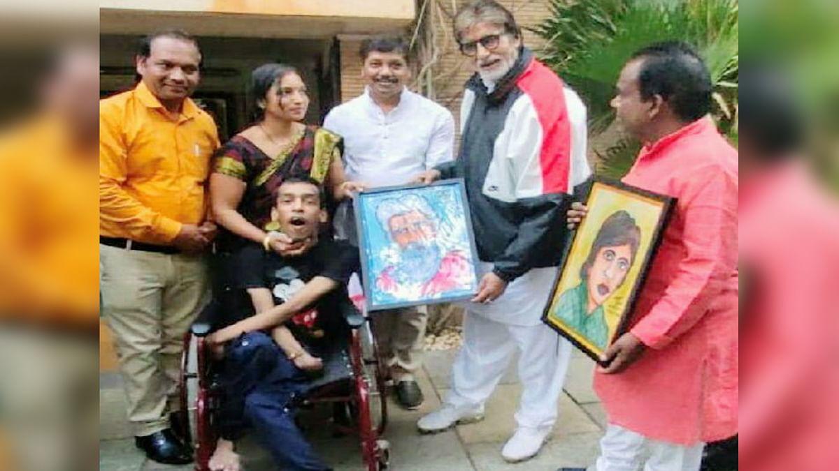 अमिताभ बच्चन ने दिव्यांग से खरीदी 50 हजार में पेंटिंग