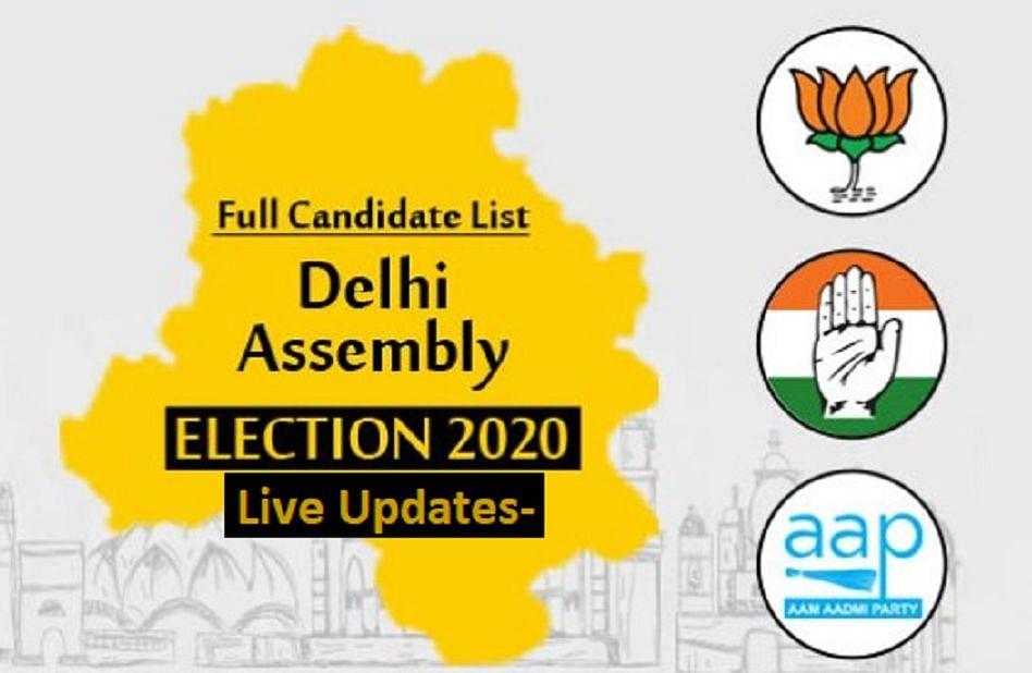 """दिल्ली विधानसभा चुनाव में """"आम आदमी पार्टी """" की वापिसी लगभग तय"""