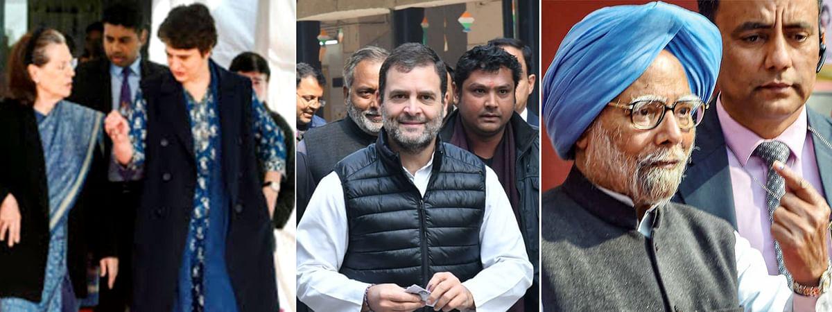 दिल्ली चुनाव 2020 में कांग्रेस नेताओं ने किया मतदान