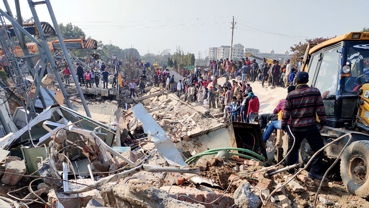 Building Collapsed Mohali in Punjab