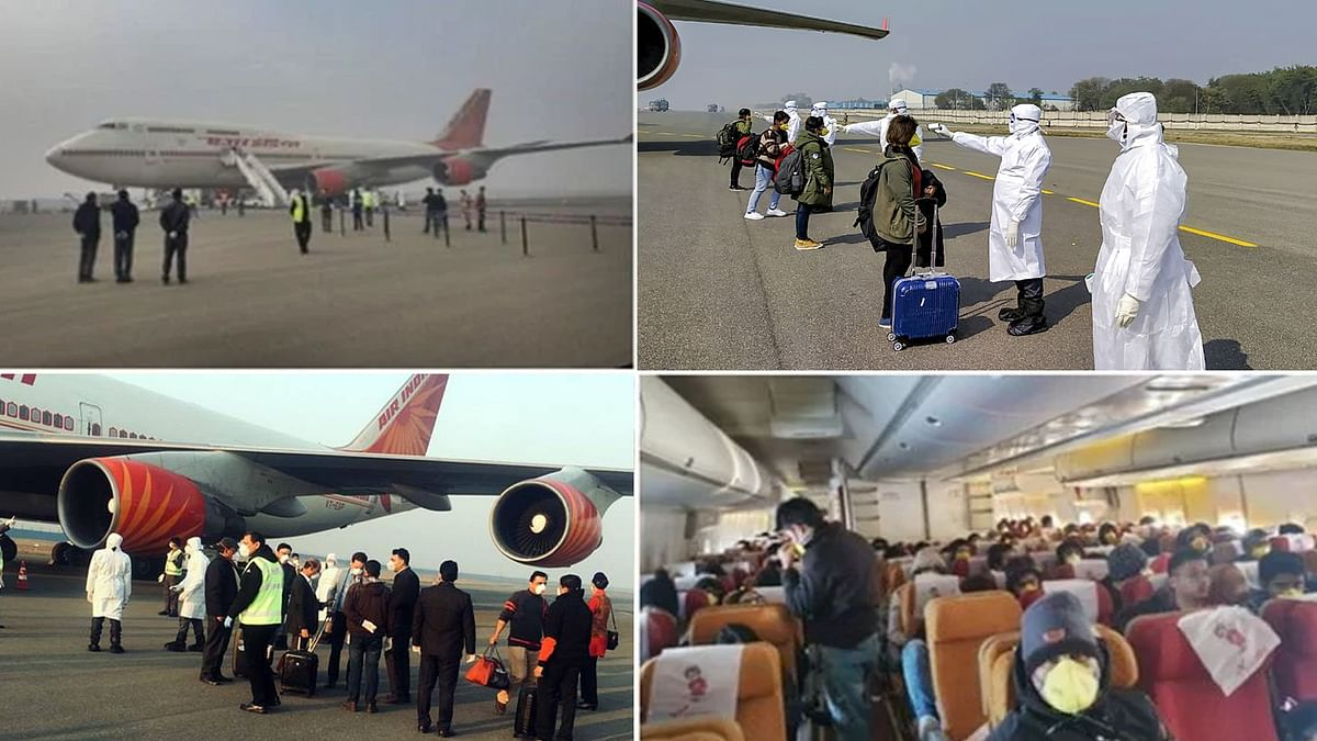 वुहान से लौटे कोरोना से प्रभावित 323 भारतीय और मालदीव के 7 नागरिक