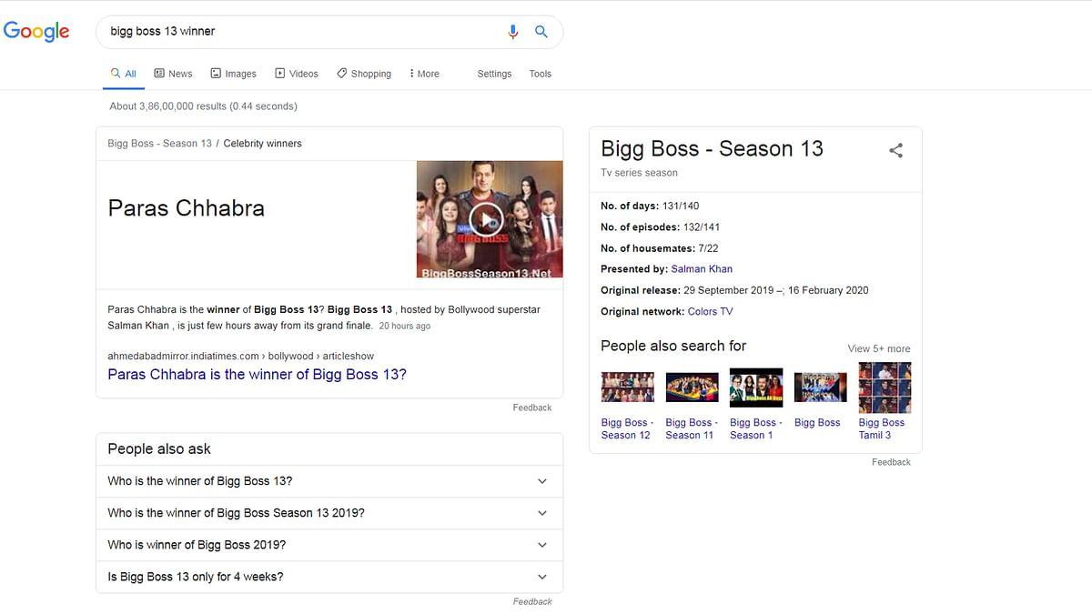 गूगल ने बताया पारस को विनर