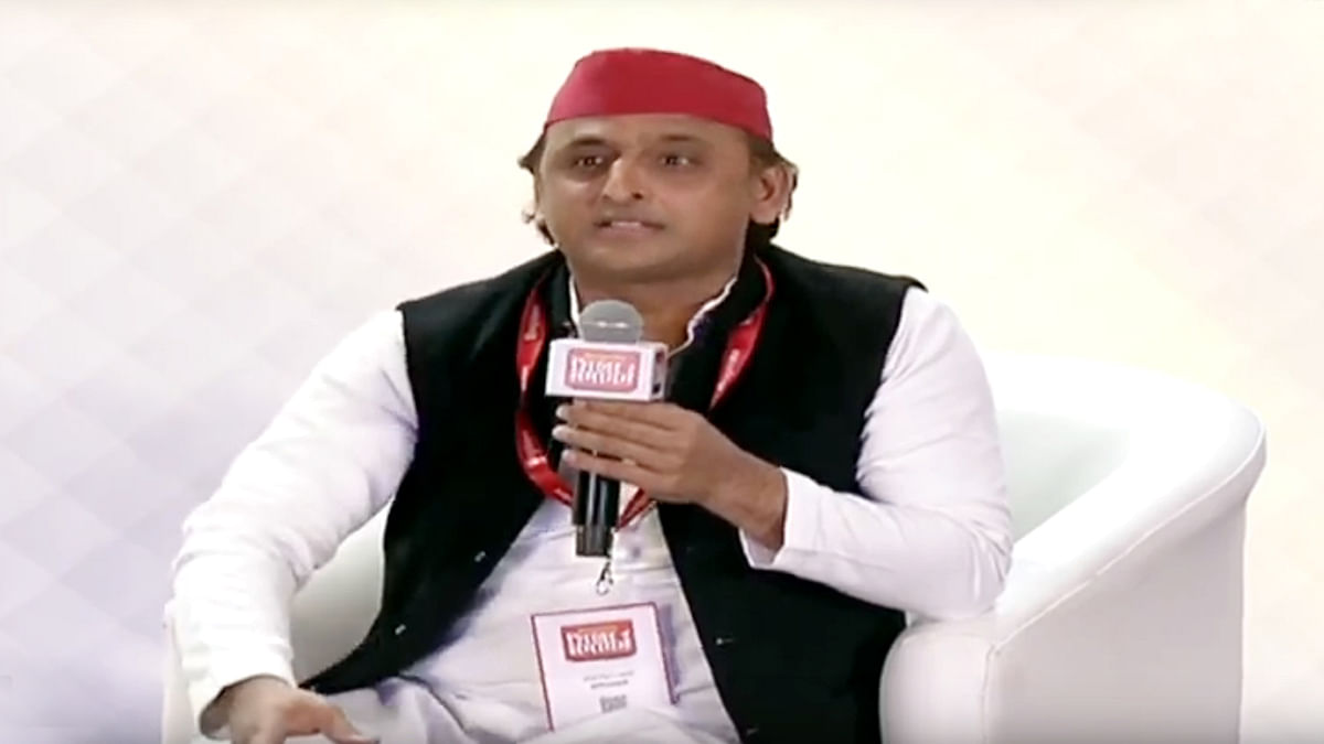 Akhilesh Yadav Reaction in hindustan summit 2020