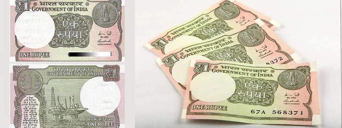 New One Rupee Note