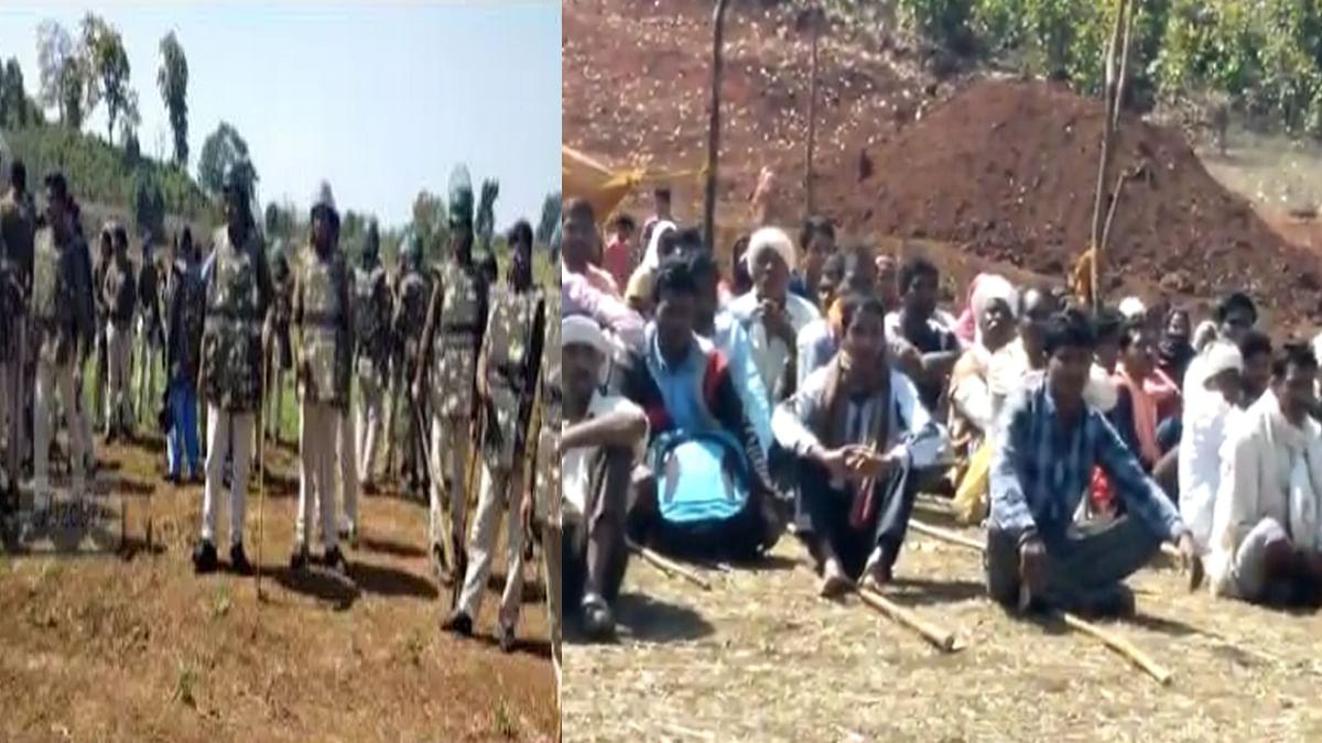 बांध का विरोध: ग्रामीण और प्रशासन में तना-तनी, पुलिस तैनात