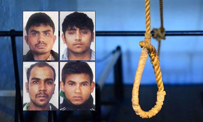 निर्भया के चारों दोषियों की फांसी 20 मार्च को तय, सभी विकल्प खत्म