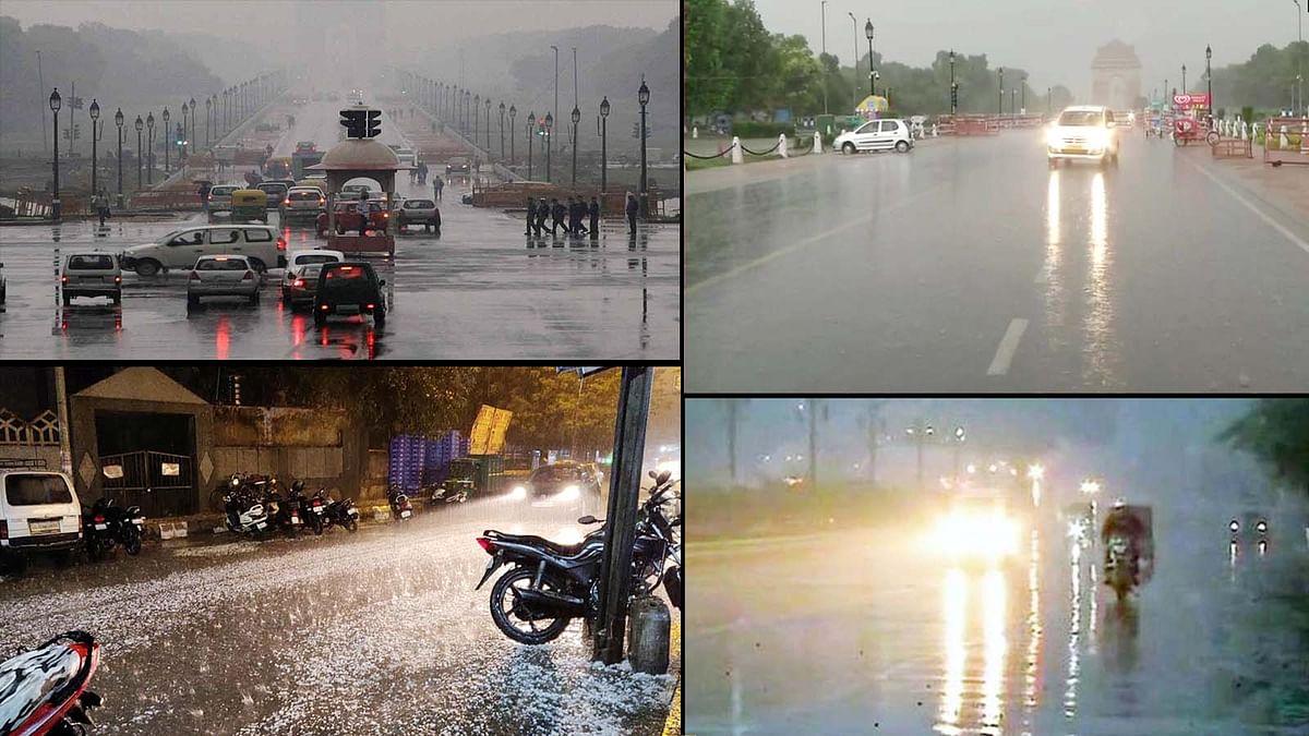 #DelhiRains: एकदम बदला मौसम का मिजाज, बिन मौसम बारिश व गिरे ओले