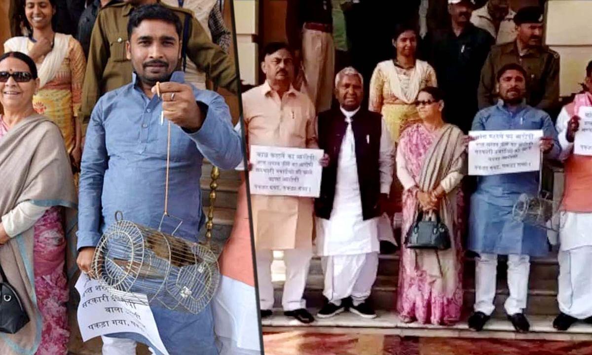 बिहार में अनोखा वाकया- चूहा लेकर बजट सत्र में पहुंचे RJD विधायक
