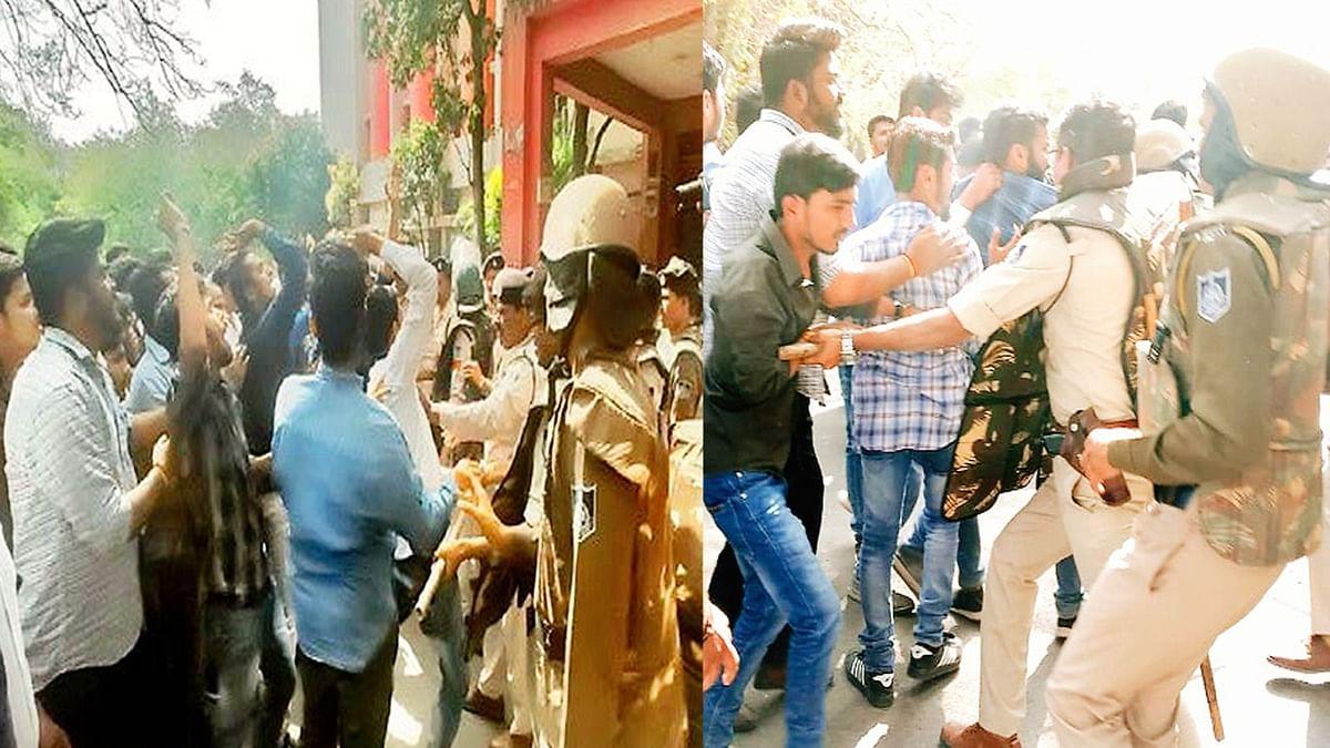 BU में महाड्रामा : छेड़छाड़ मामले पर एनएसयूआई और एबीवीपी में टकराव